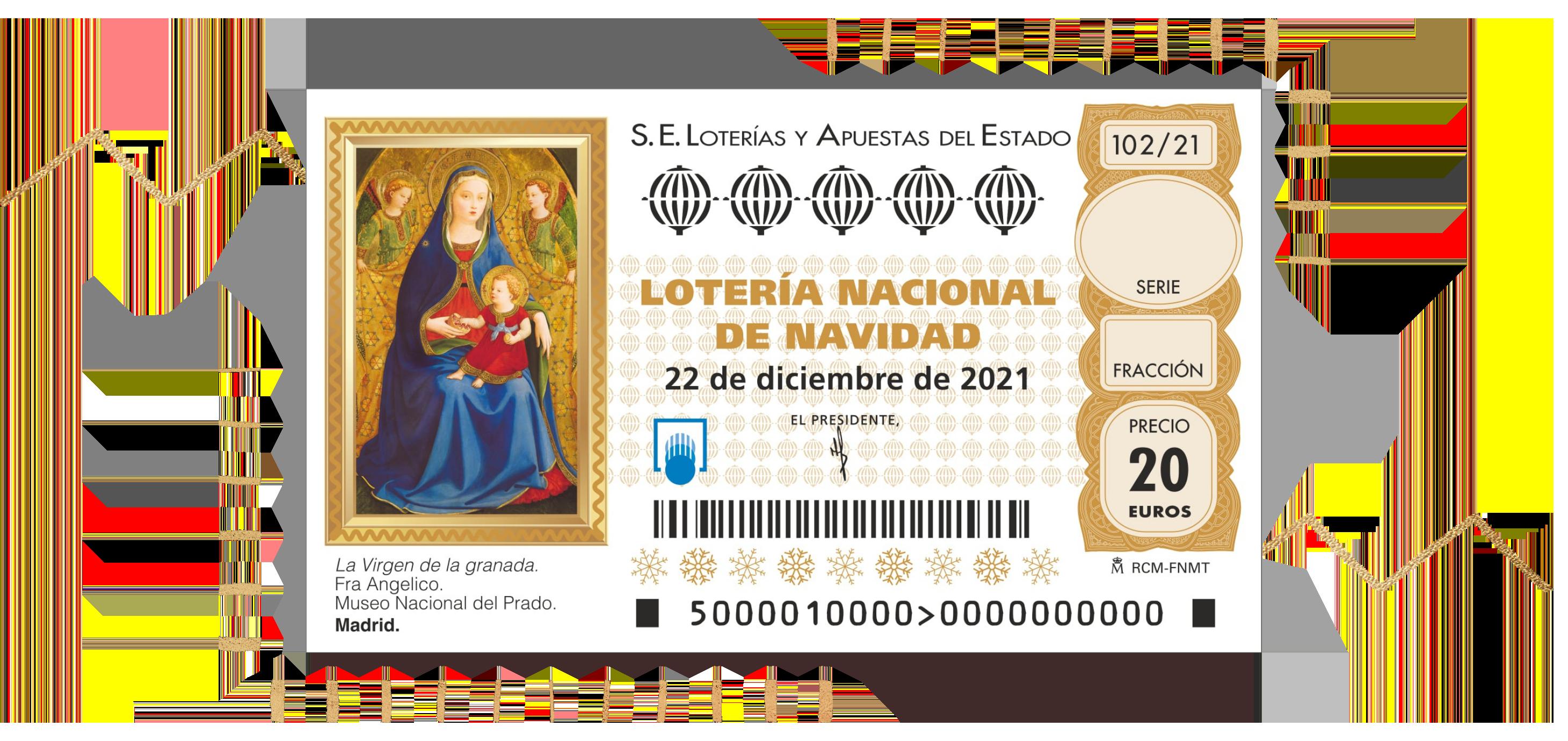 Décimo Lotería de Navidad 2021